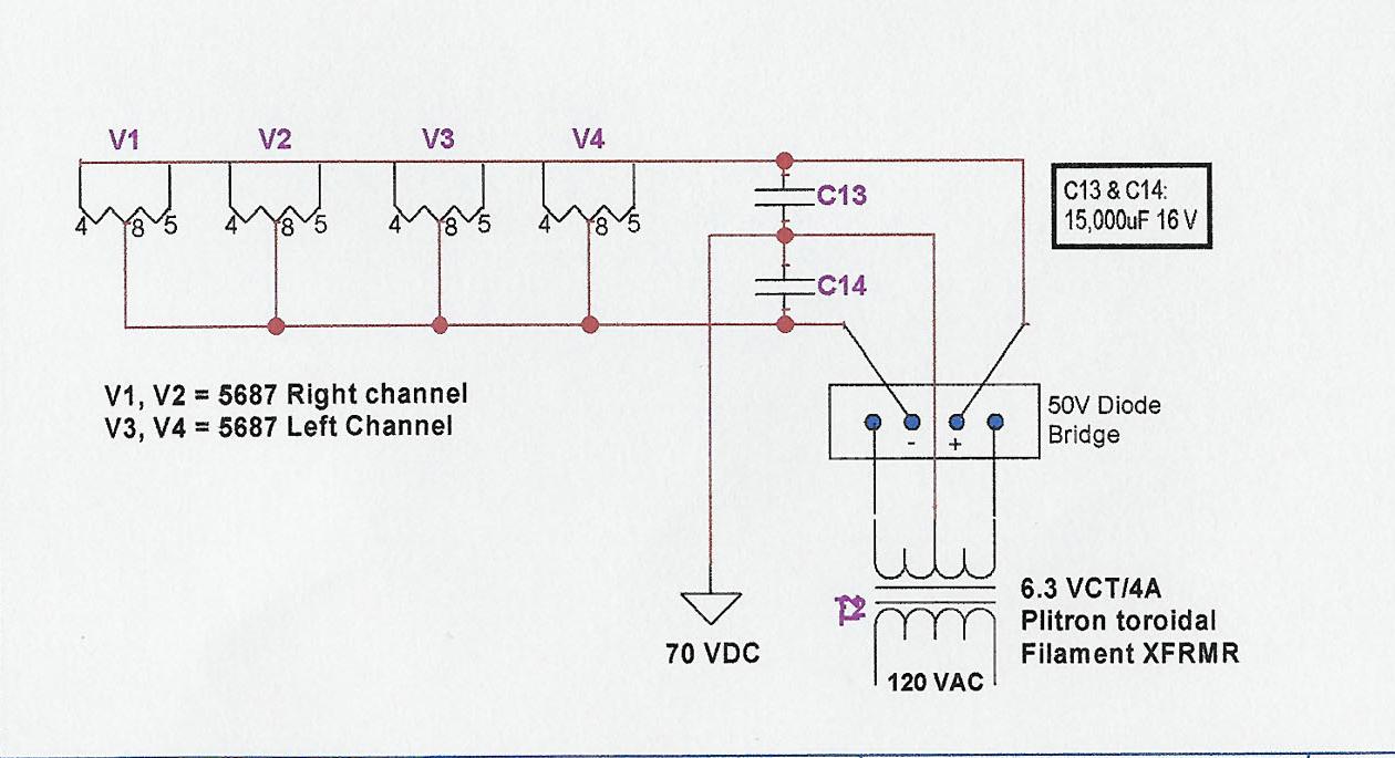 Tip 50 Psu Diagram Furthermore Shunt Voltage Regulator Circuit 5687 Filament Supply